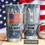 Navy Personalized MDA0510022 Stainless Steel Tumbler