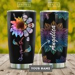 Skull Flower Personalized KD2 HAL0110020 Stainless Steel Tumbler