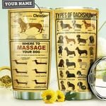 Dachshund KD4 Personalized MDA0110024 Stainless Steel Tumbler
