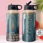 Ocean Personalized HHA0810010 Stainless Steel Bottle With Straw Lid