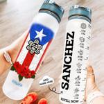 Personalized Puerto Rico Taino Sun PYZ0610029 Water Tracker Bottle