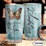 Butterfly Faith Personalized THA1910037 Stainless Steel Tumbler