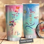 Dandelion Butterfly Personalized HNL0110008 Stainless Steel Tumbler