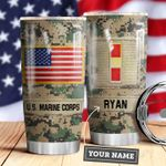 Marine Corps Personalized MDA0610040 Stainless Steel Tumbler