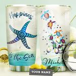 Starfish Turtle Personalized HHE0210009 Stainless Steel Tumbler