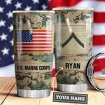 Marine Corps Personalized MDA0610045 Stainless Steel Tumbler