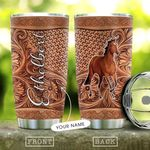 Horse Leather Personalized DNE0810012 Stainless Steel Tumbler