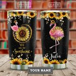 Flamingo Hippie Personalized KD2 HAL0110016 Stainless Steel Tumbler