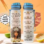 Black Queen Personalized HTQ0610012 Water Tracker Bottle