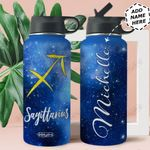 Sagittarius Personalized MDA2309002 Stainless Steel Bottle With Straw Lid