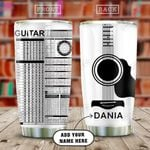 Guitar Lover Personalized KD2 HAL0810019 Stainless Steel Tumbler