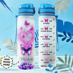 Butterfly Personalized HTR0610014 Water Tracker Bottle