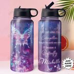 Butterfly KD4 Personalized HHA0610002 Stainless Steel Bottle With Straw Lid