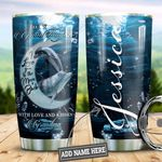 Personalized Dolphin Love You To The Moon HLZ1510012 Stainless Steel Tumbler