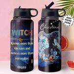 Witch Personalized MDW1610025 Stainless Steel Bottle With Straw Lid
