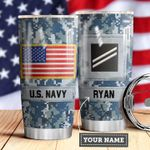 Navy Personalized MDA0510040 Stainless Steel Tumbler