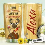 Wine Pug Personalized THV1310005 Stainless Steel Tumbler