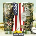 Marine Corps Personalized MDA0810050 Stainless Steel Tumbler
