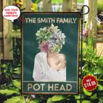 Garden Pot Head Personalized KD2 MAL0510002 Flag