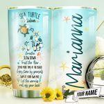 Turtle Wisdom Personalized THV0610011 Stainless Steel Tumbler