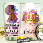 Black Women Personalized DNC1410005 Stainless Steel Bottle with Tumbler