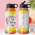 Chicken Personalized DNE0910008 Stainless Steel Bottle With Straw Lid