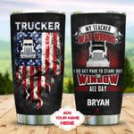 Trucker Personalized KD2 MAL1710016 Stainless Steel Tumbler