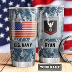 Navy Personalized MDA0510030 Stainless Steel Tumbler