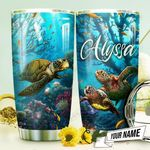 Turtle Ocean Personalized THV0910009 Stainless Steel Tumbler
