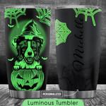 Border Collie Halloween Personalized HTQ0110004 Luminous Stainless Steel Tumbler