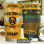 School Bus Personalized MDA1610032 Stainless Steel Tumbler