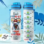 Frog Personalized HTR2008028 Water Tracker Bottle
