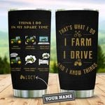 Tractor Head Personalized KD2 DHL1210022 Stainless Steel Tumbler
