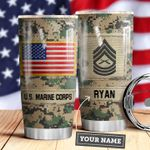 Marine Corps Personalized MDA0610026 Stainless Steel Tumbler