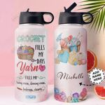 Crochet Personalized HHA1610004 Stainless Steel Bottle With Straw Lid