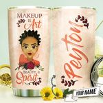 African Makeup Personalized THV1410003 Stainless Steel Tumbler