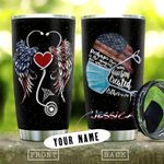 Nurse Wings Personalized KD2 HNL1210018 Stainless Steel Tumbler