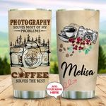 Camera With Coffee Girl Personalized KD2 MAL1210012 Stainless Steel Tumbler