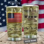 Soilder USA Personalized MDA2509024 Stainless Steel Tumbler