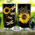 Dragonfly You Are My Sunshine Personalized KD2 HAL0210015 Stainless Steel Tumbler