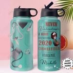 BW Nurse Uniform Personalized HHA1210012 Stainless Steel Bottle With Straw Lid