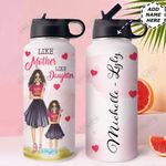 Love Black Women Personalized HHE2509008 Stainless Steel Bottle With Straw Lid