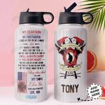 Mom Firefighter KD4 Personalized HHA1510004 Stainless Steel Bottle With Straw Lid