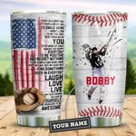 Baseball Make You Happy Personalized KD2 ZZL2010001 Stainless Steel Tumbler