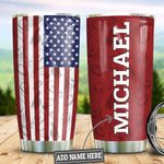Personalized US Flag Football HLZ1910018 Stainless Steel Tumbler
