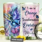 Rainbow Butterfly Personalized HHE0110015 Stainless Steel Tumbler
