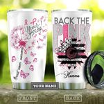 Breast Cancer Dandelion Personalized KD2 HAL2010002 Stainless Steel Tumbler
