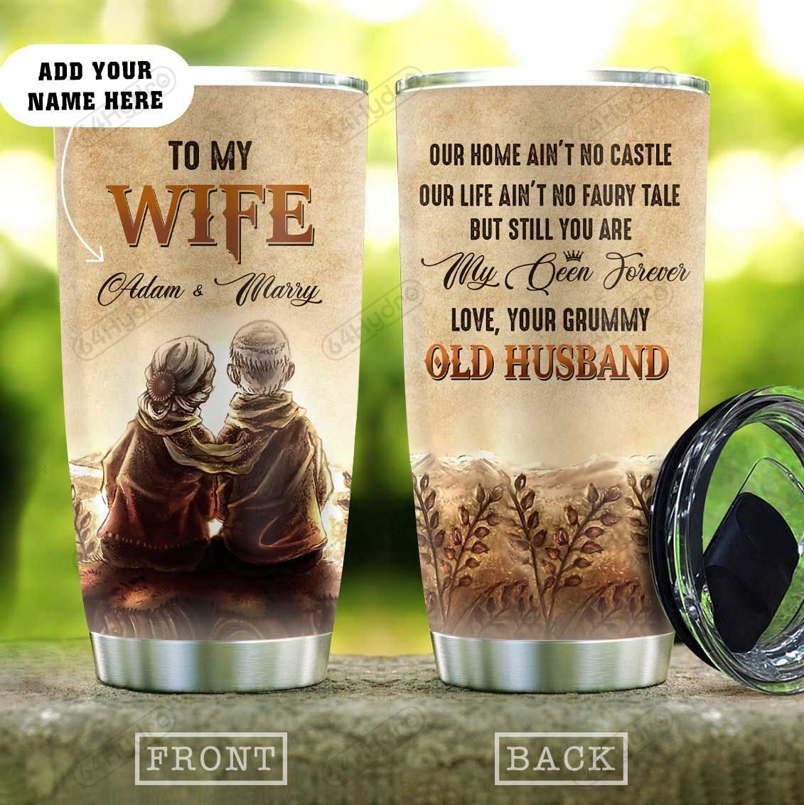 Gift For My Queen Wife Personalized KD2 HAL0610011 Stainless Steel Tumbler