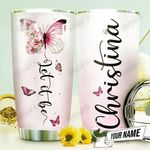 Butterfly Let It Be Personalized THV0610004 Stainless Steel Tumbler