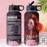 Redhead Fact Personalized HTR2909014 Stainless Steel Bottle With Straw Lid